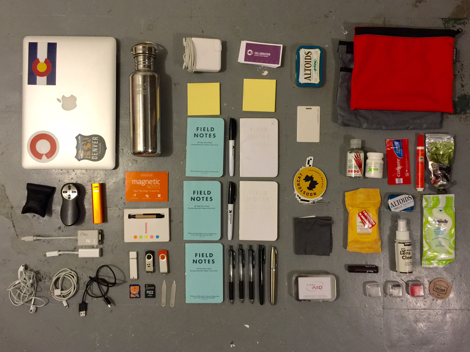 Contents. Not enough Field Notes, natch.