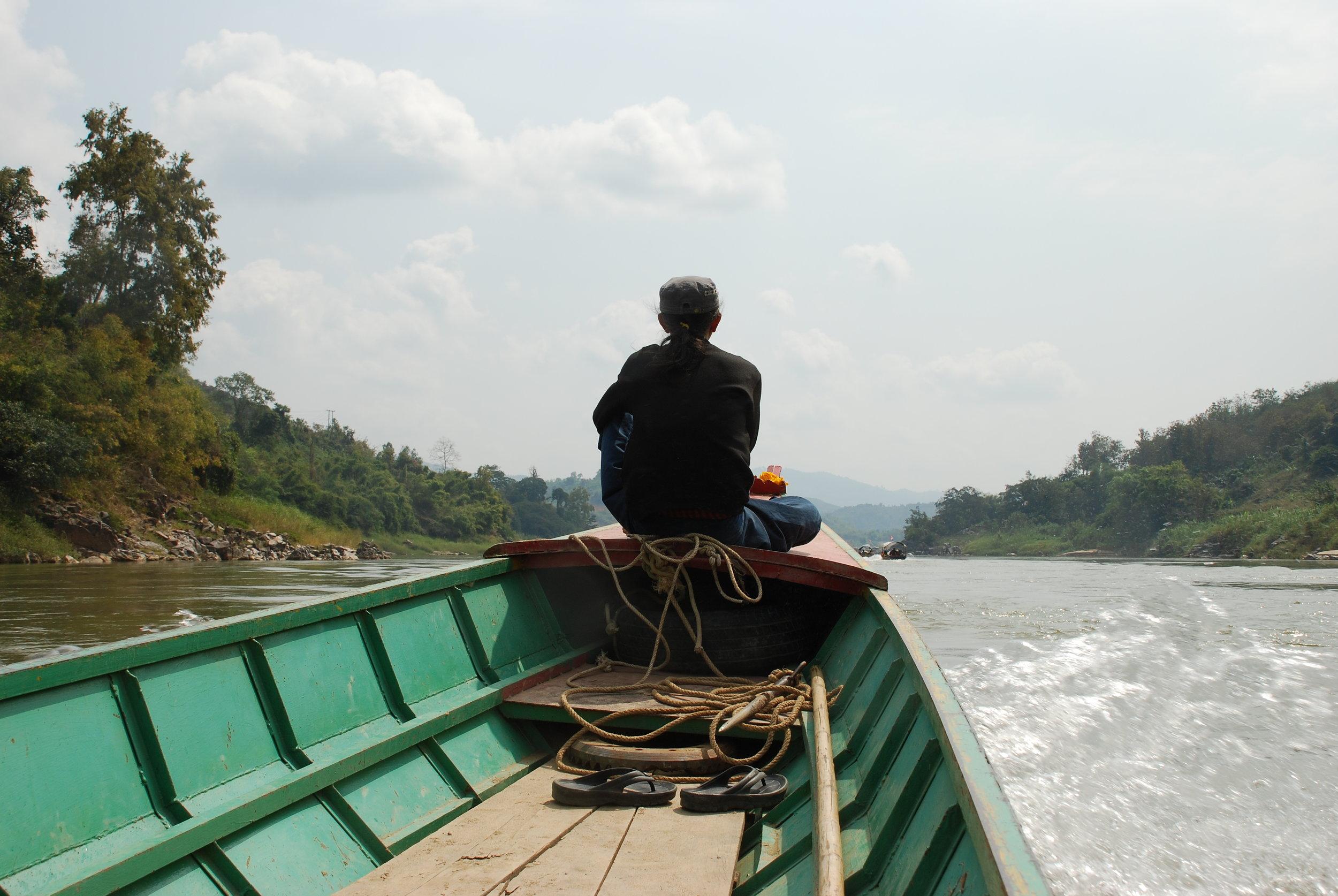 kruti on the Mekong River