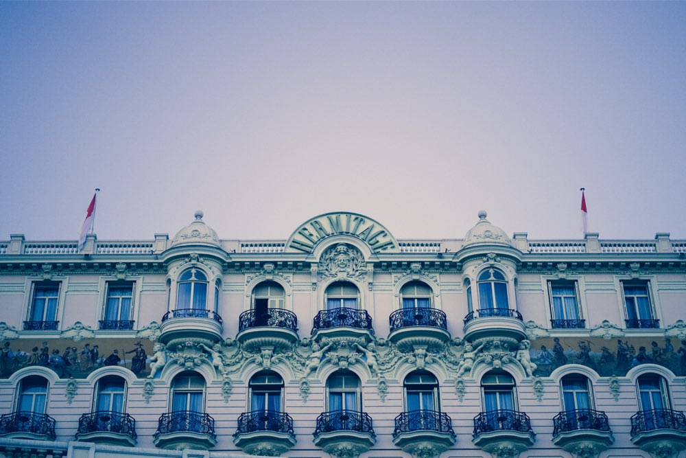 Balcony views and a pink Wes Anderson-style façade – two good reasons to stay at the  Hotel Hermitage