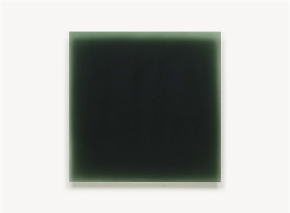 Peter Alexander, 1/12/13 (Money Green), 2013, urethane, 40 x 40 inches