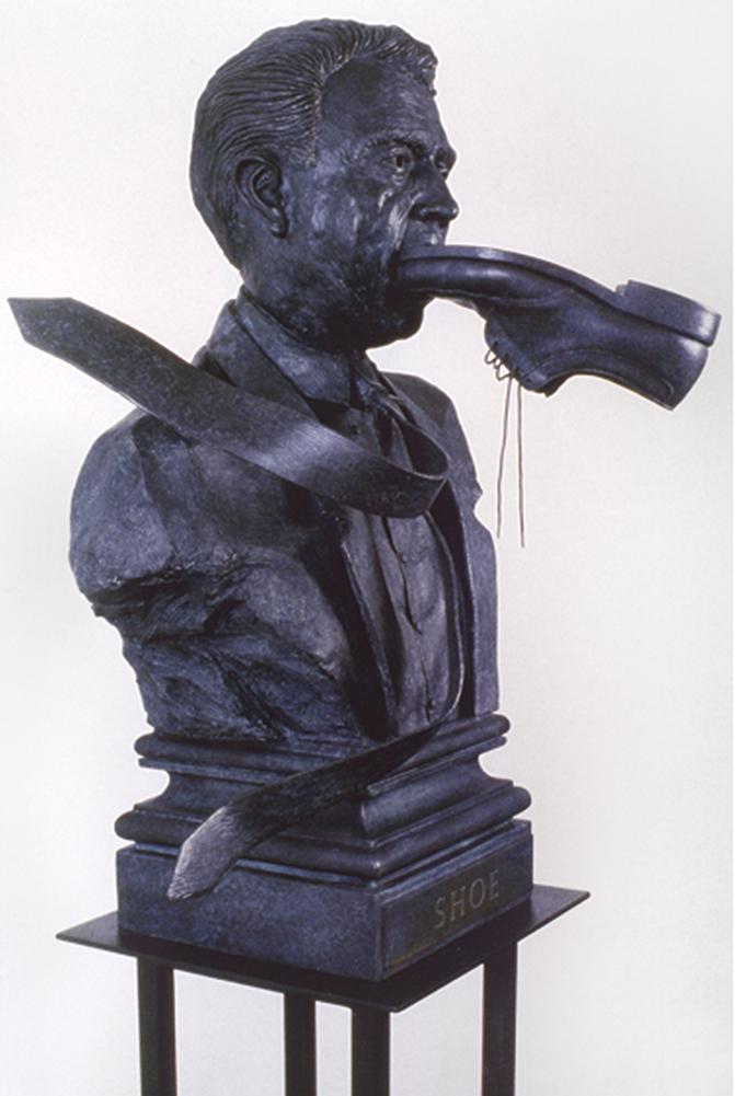 Terry Allen, Shoe (91.45.S), 1991, Bronze, 32 x 20 x 17 inches