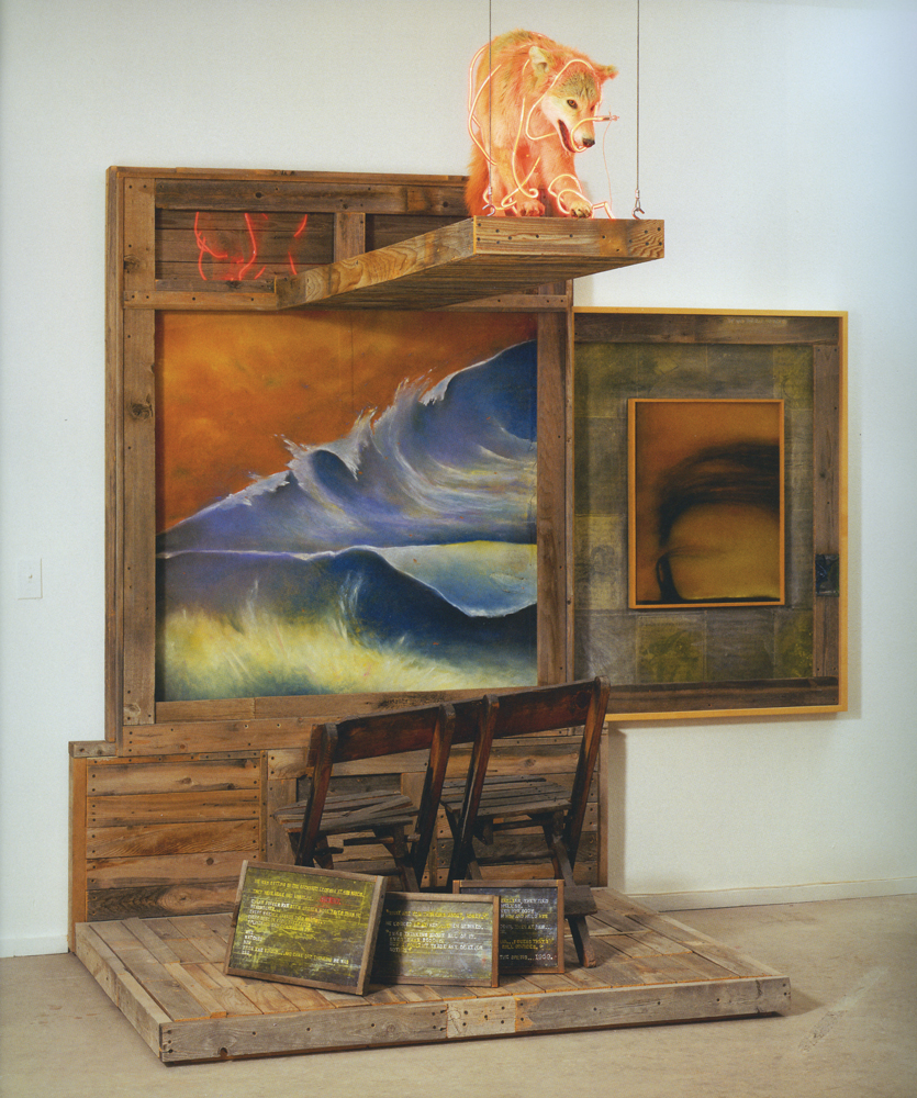 """Terry Allen, Ancient (""""Dugout"""" Stage 1), 2000-01, Mixed media assemblage, 97 x 96 x 78.25 inches"""