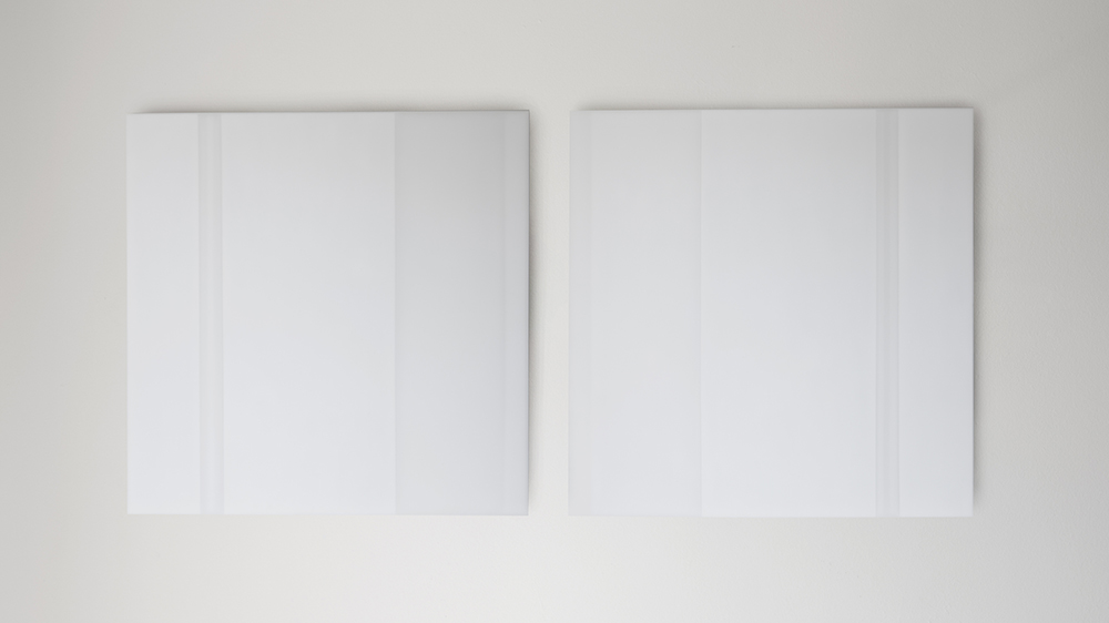 Steve Burtch No.12044, 2012, acrylic and graphite on cast acrylic panels, 44 x 44 inches