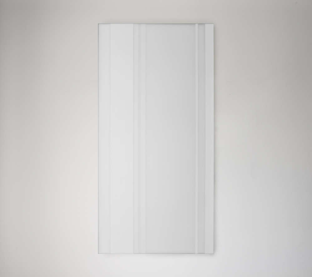 Steve Burtch, No. 12038, 2012, acrylic & graphite on cast acrylic panels, 96 x 48 inches