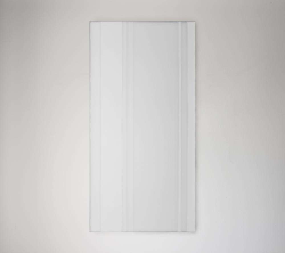 Steve Burtch, NO. 12039, 2012, acrylic & graphite on cast acrylic panels, 72 x 48 inches