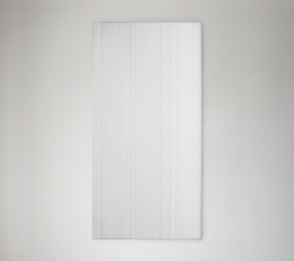 Steve Burtch, No. 12042, 2012, acrylic & graphite on cast acrylic panels, 22 x 22 inches