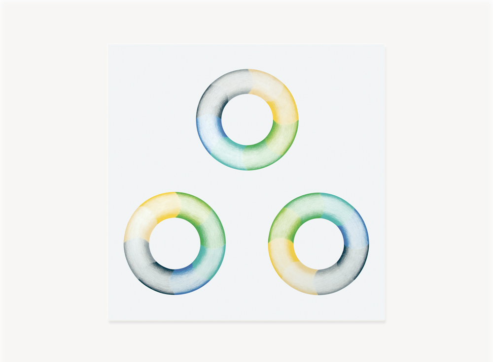 """Judy Chicago, Donut Drawing #1, 1968, Prismacolor on paper, 27.5 x 27.5 inches                                Normal    0                false    false    false       EN-US    JA    X-NONE                                                                                                                                                                                                                                                                                                                                                                                                                                                                                                                                                  /* Style Definitions */ table.MsoNormalTable {mso-style-name:""""Table Normal""""; mso-tstyle-rowband-size:0; mso-tstyle-colband-size:0; mso-style-noshow:yes; mso-style-priority:99; mso-style-parent:""""""""; mso-padding-alt:0in 5.4pt 0in 5.4pt; mso-para-margin-top:0in; mso-para-margin-right:0in; mso-para-margin-bottom:10.0pt; mso-para-margin-left:0in; mso-pagination:widow-orphan; font-size:12.0pt; font-family:Cambria; mso-ascii-font-family:Cambria; mso-ascii-theme-font:minor-latin; mso-hansi-font-family:Cambria; mso-hansi-theme-font:minor-latin; mso-fareast-language:JA;}"""
