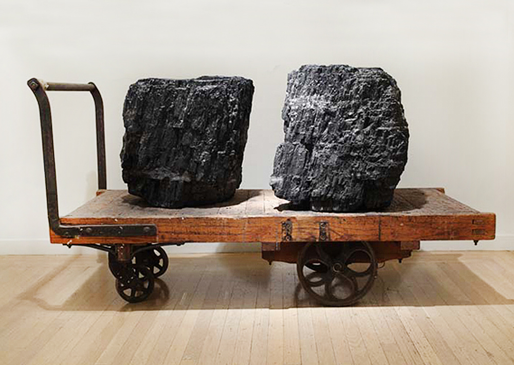 "Paul Kos, Coal/Canary (Weight of a Song), 2007, Two 250lb pieces of coal, wood and steel cart, audio, 38 x 48 x 30 inches                                  Normal     0                     false     false     false         EN-US     JA     X-NONE                                                                                                                                                                                                                                                                                                                                                                                                                                                                                                                                                                                                                                                                                                                    /* Style Definitions */ table.MsoNormalTable 	{mso-style-name:""Table Normal""; 	mso-tstyle-rowband-size:0; 	mso-tstyle-colband-size:0; 	mso-style-noshow:yes; 	mso-style-priority:99; 	mso-style-parent:""""; 	mso-padding-alt:0in 5.4pt 0in 5.4pt; 	mso-para-margin-top:0in; 	mso-para-margin-right:0in; 	mso-para-margin-bottom:10.0pt; 	mso-para-margin-left:0in; 	mso-pagination:widow-orphan; 	font-size:12.0pt; 	font-family:Cambria; 	mso-ascii-font-family:Cambria; 	mso-ascii-theme-font:minor-latin; 	mso-hansi-font-family:Cambria; 	mso-hansi-theme-font:minor-latin; 	mso-fareast-language:JA;}"