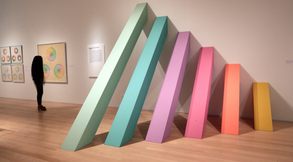 """Chicago in L.A.: Judy Chicago's Early Work 1963-1974  Among this artist's work appearing in a retrospective at the Brooklyn Museum is """"Rainbow Pickett."""""""