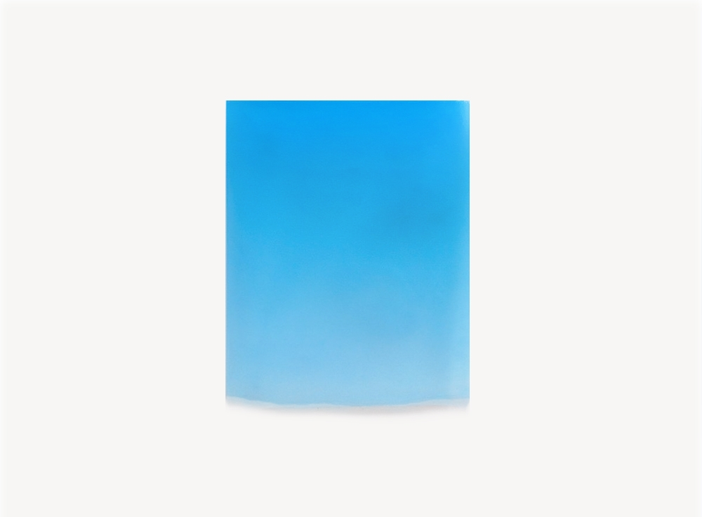 Peter Alexander, 1/21/12, (Blue Drip), 2012, polyester resin, 26.25 x 21 x 1.25 inches