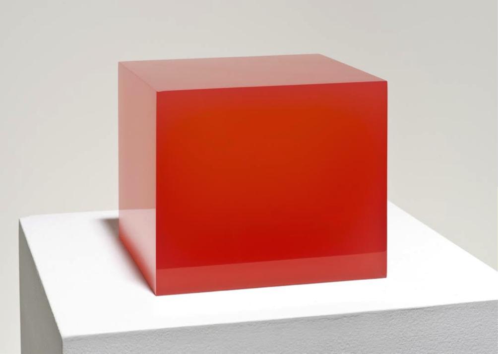 "Peter Alexander   Red Cube, 2015  6"" x 8"" x 8"""