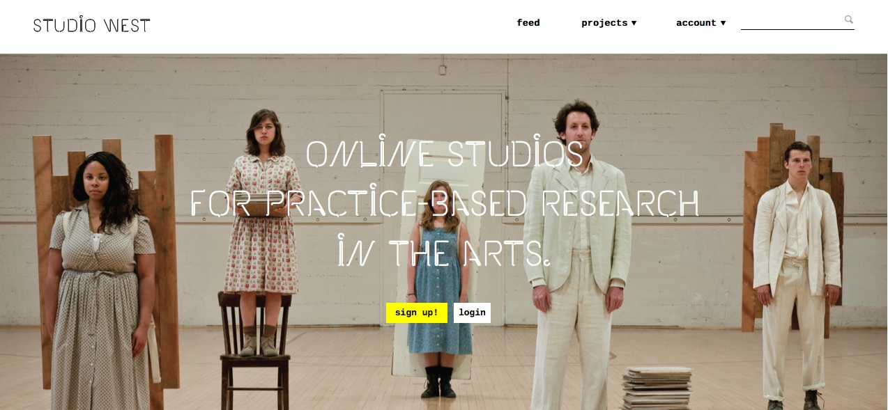Studio West online studio for Practice Based Research in the Arts Standford/NOVOed.