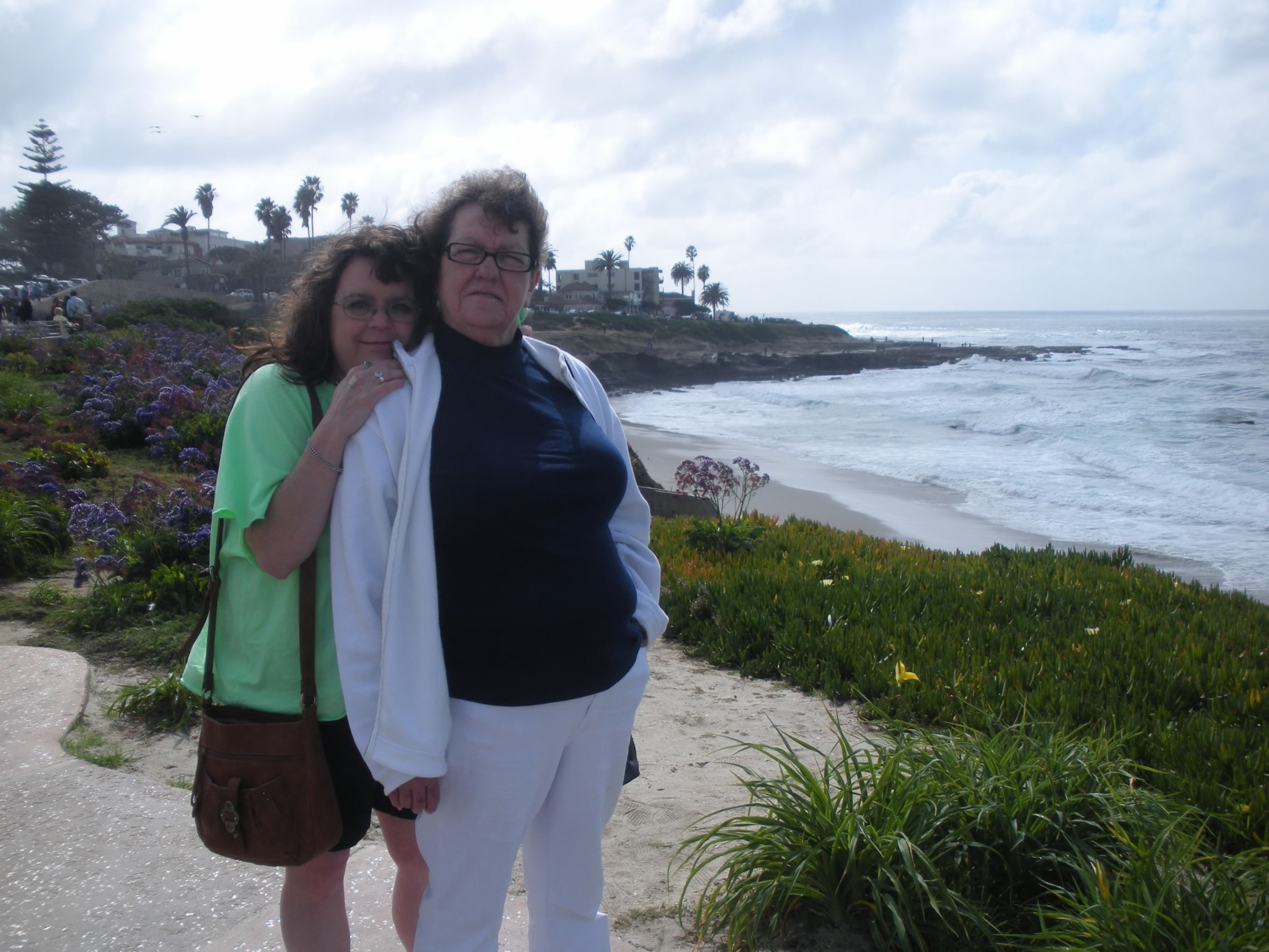 After being diagnosed with cancer, Donna and Judy traveled as often as they could and enjoyed every moment together. Pictured above, Donna and Judy visit California's beaches.