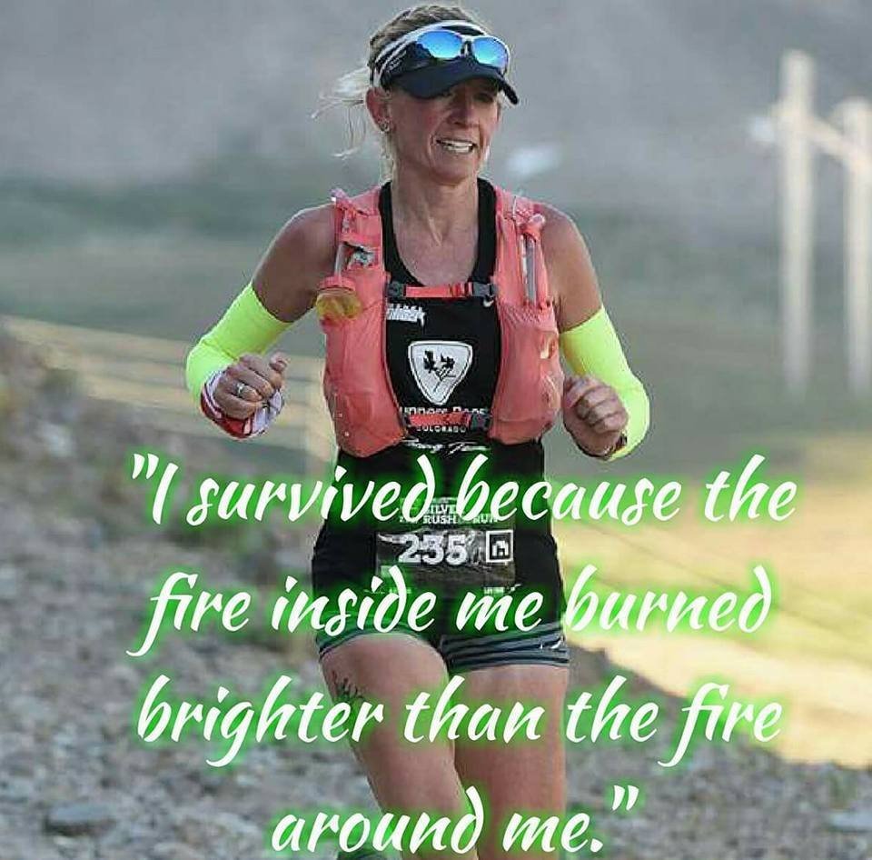 Jen Byrne running the Silver Rush in Leadville, CO in 2017
