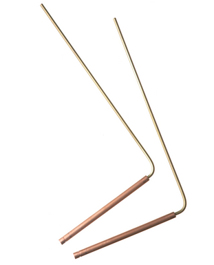 Pair of standard modern L-shaped dowsing rods.