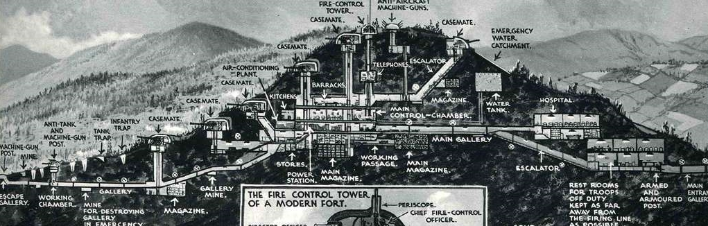 Cutaway of the military's nuclear safe-zone some two hours from where the message was heard.