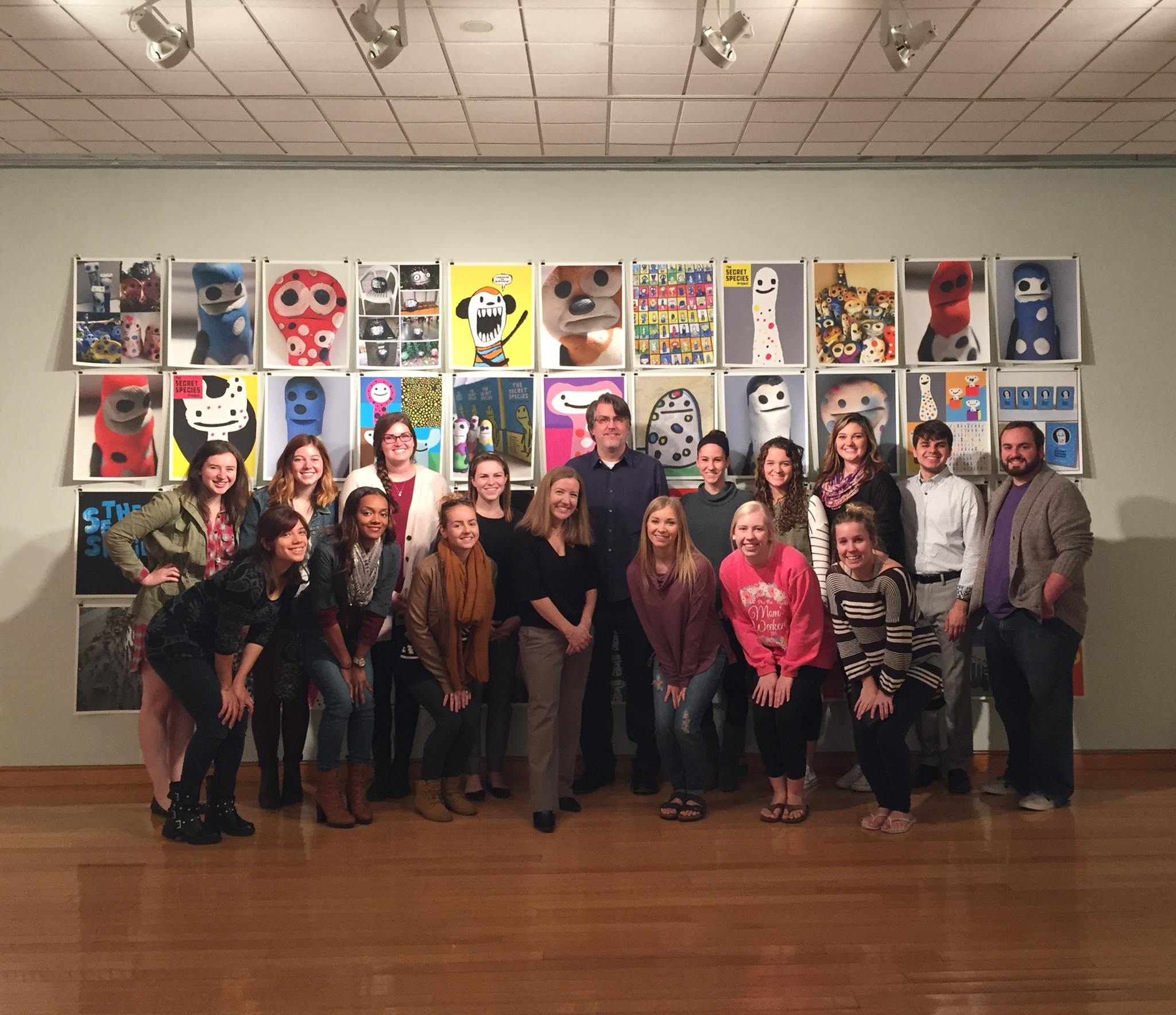 I met and worked with students in Art Education, Business, Marketing, and Graphic Design.