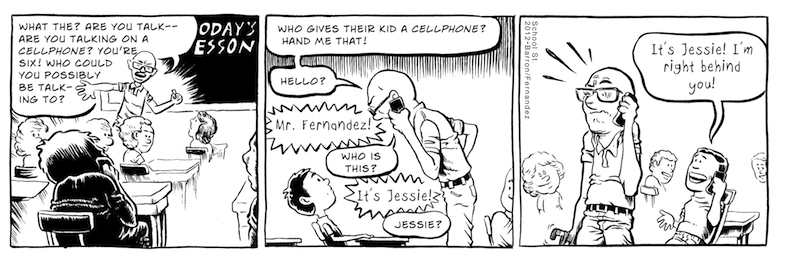 Comic Strip:  School Street  Client: Martin Fernandez
