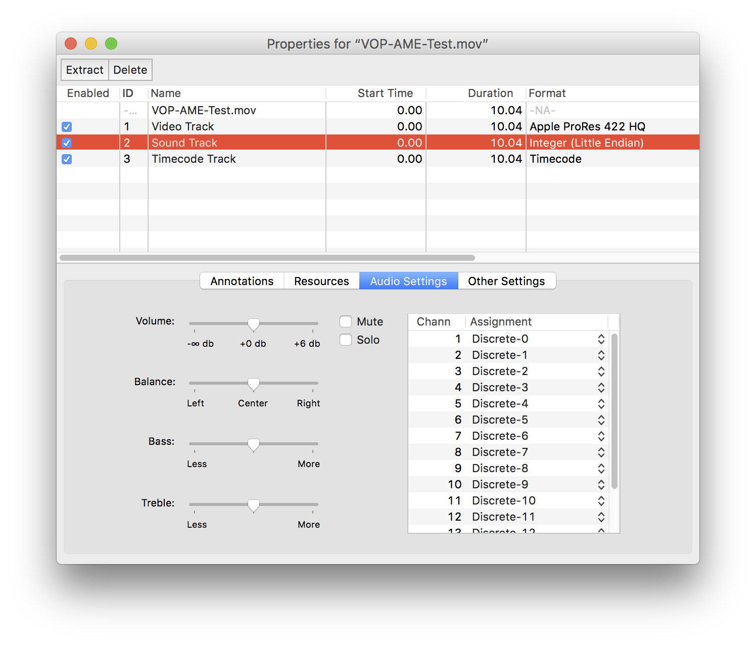 Video with 16 Channel Audio + QuickTime Pro Laments