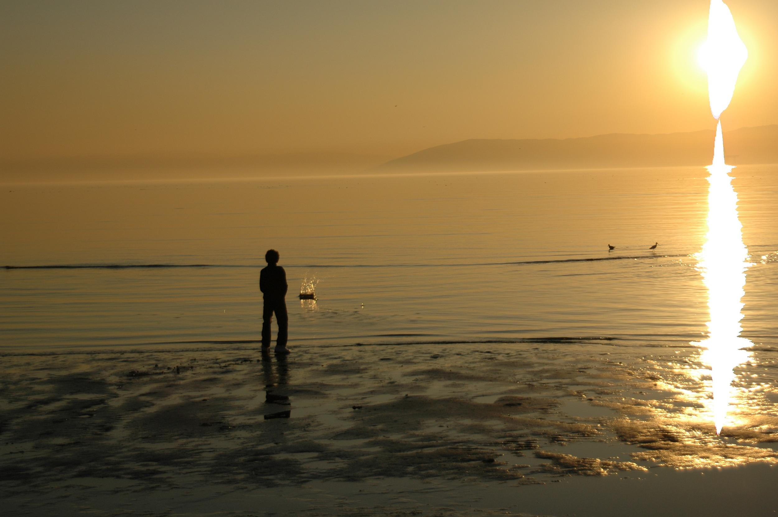 Stephen in sea.JPG