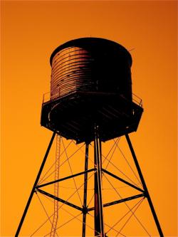 Sunset Water Tank (Chicago), photograph, 2008.jpg