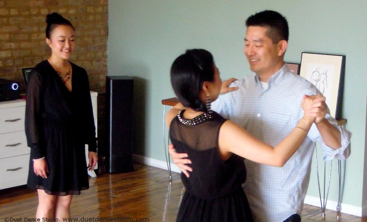 Private dance lessons at Duet Dance Studio.