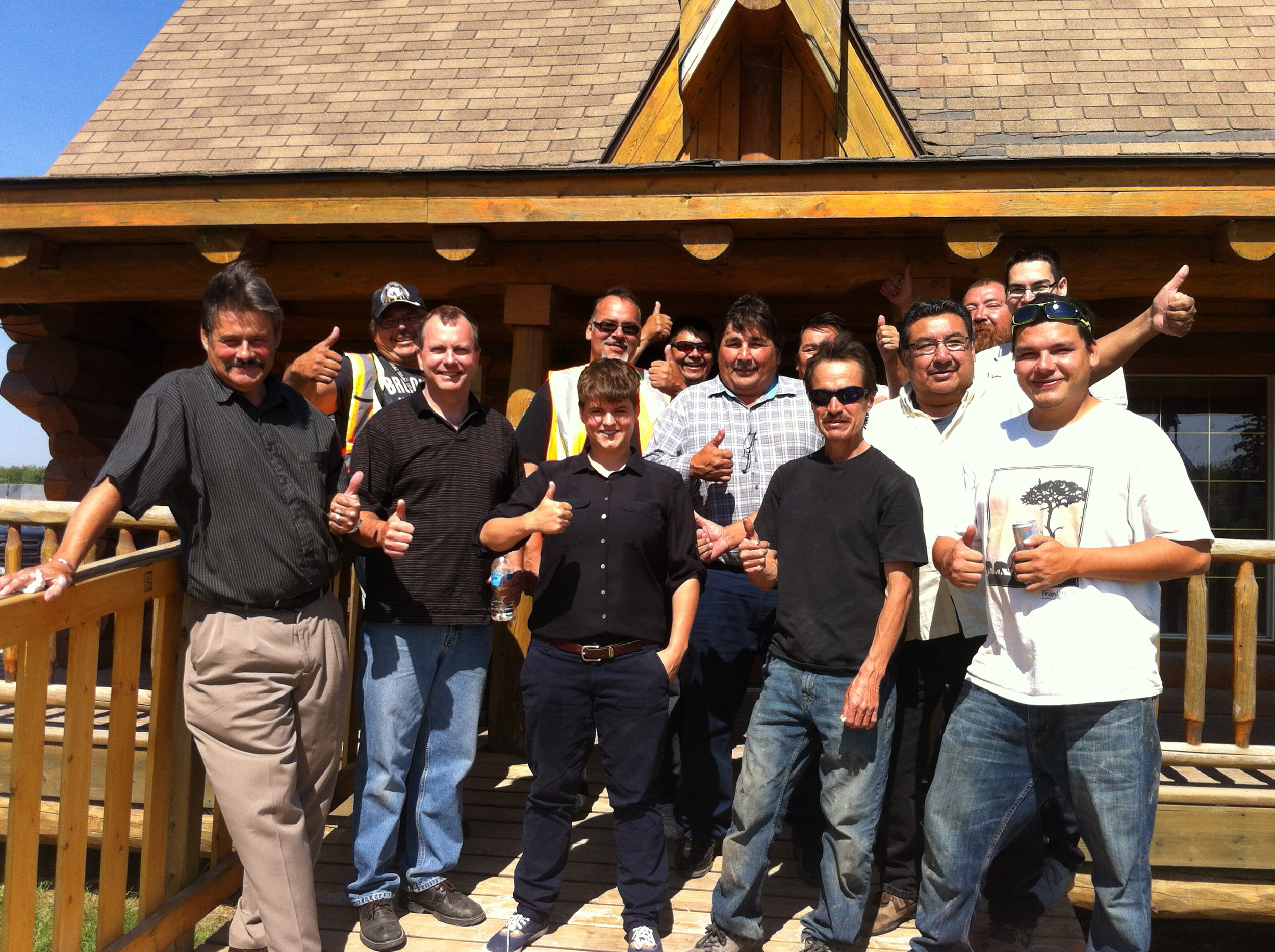 Fisher River Builders and Aki Energy celebrate a successful season of geothermal energy development.