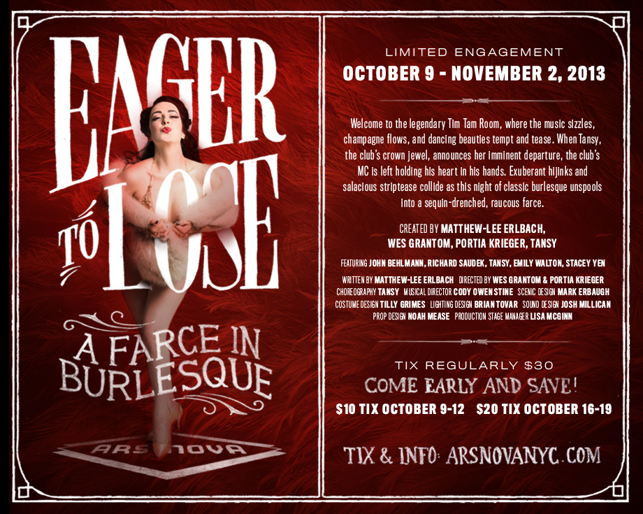 Eager to Lose  at Ars Nova, Oct 9 - Nov. 2
