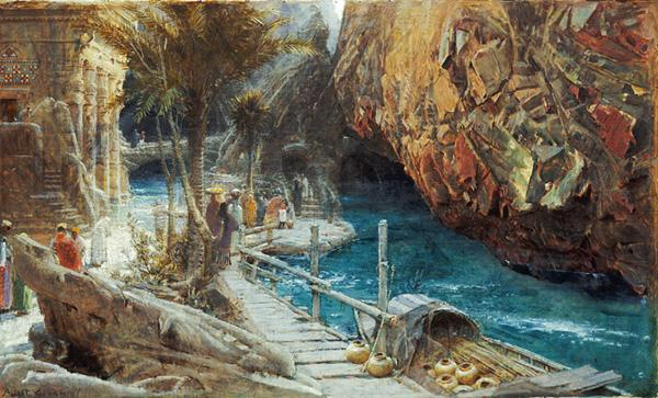 The Source of the Sacred River, by Albert Goodwin
