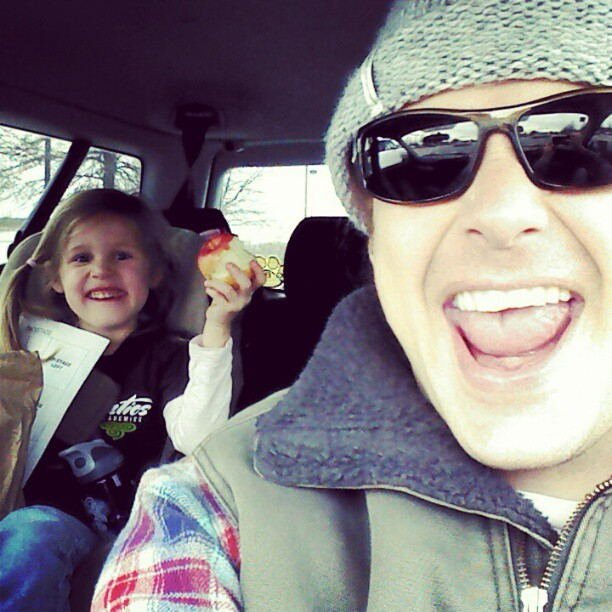 Jammin' with my Lyric and rocking to  Kim Walker! Oh, and chomping apples! #lovemylyric