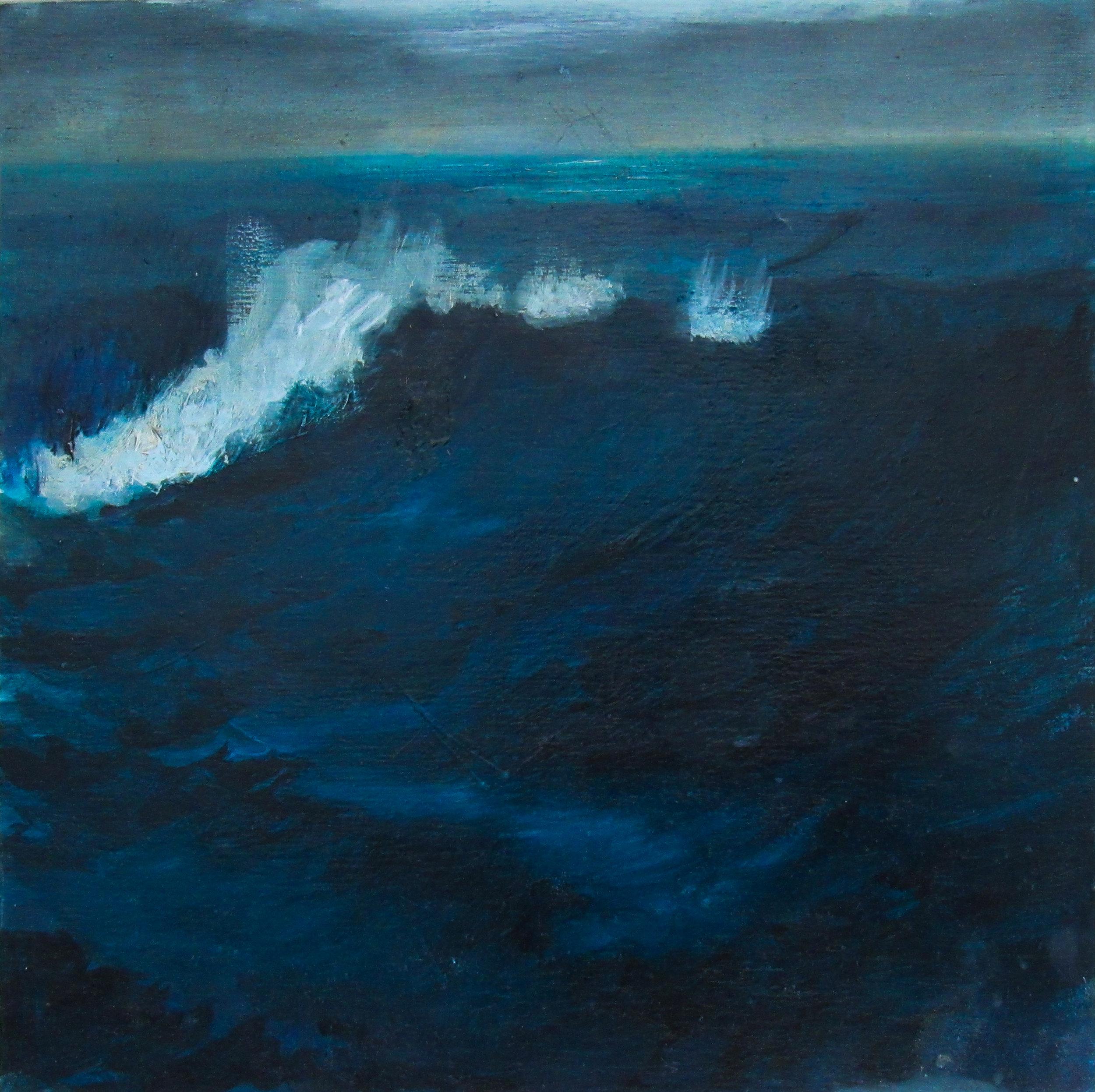 "Sable Surf / 8 x 8"" / oil on birchwood panel"