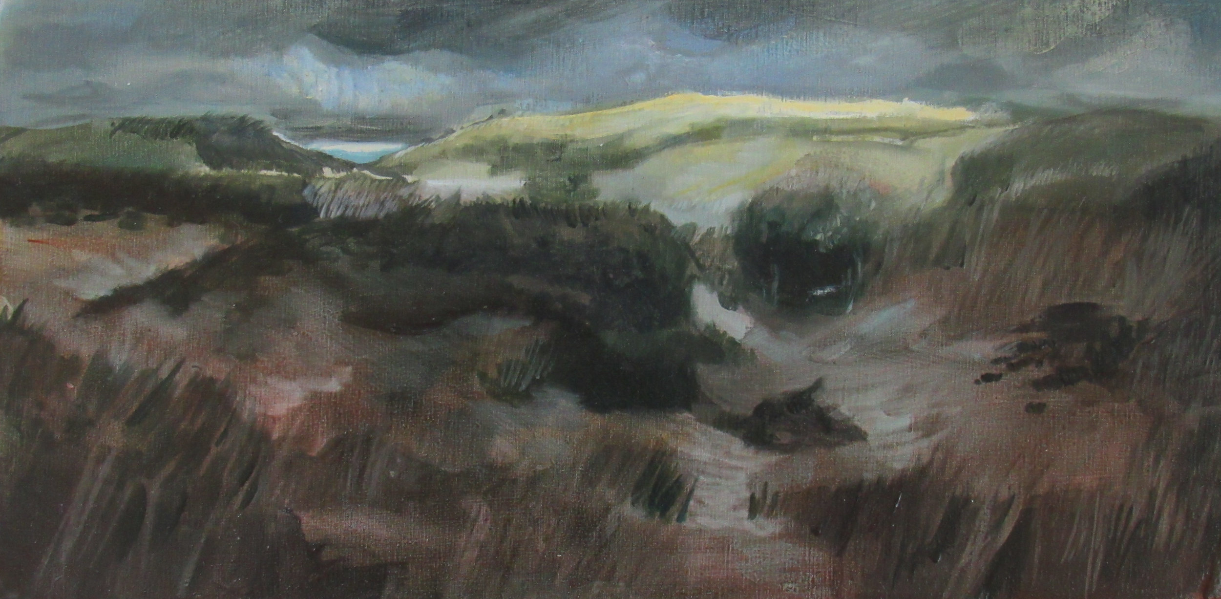 "Sable Dunes / 6 x 12"" /oil on birchwood panel"