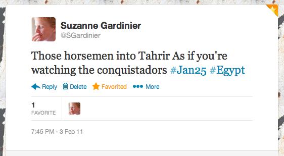 Tahrir horsemen tweet.png