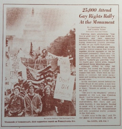 First march on Washington for gay & lesbian rights, October 1979