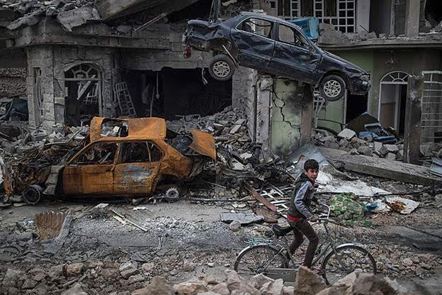 Mosul. AP photo for The Japan Times.