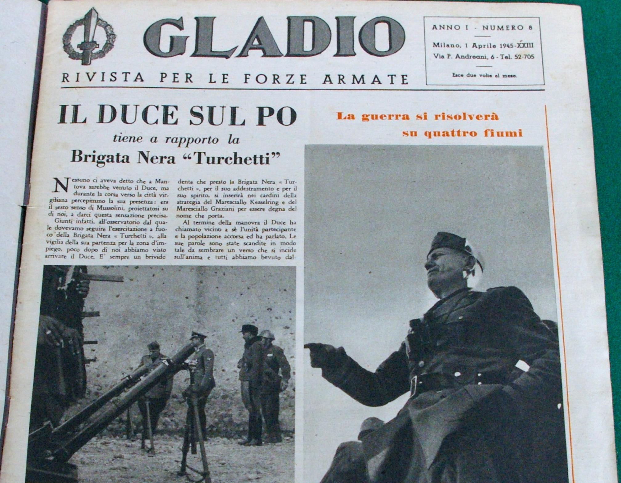 Mussolini's newspaper, 1945