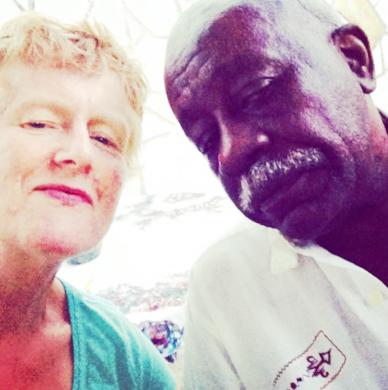 With Víctor Dreke, Havana, April 2015