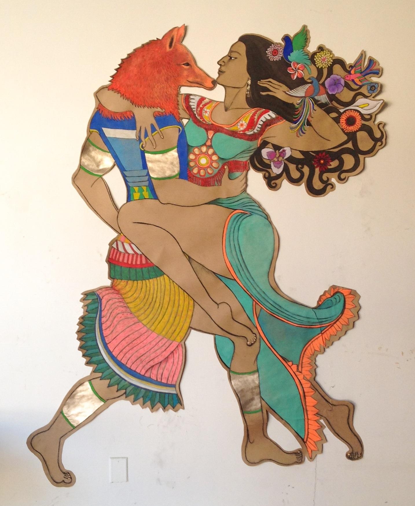 Huehuecoyotl y Xochiquetzal, Mexico City, 2014