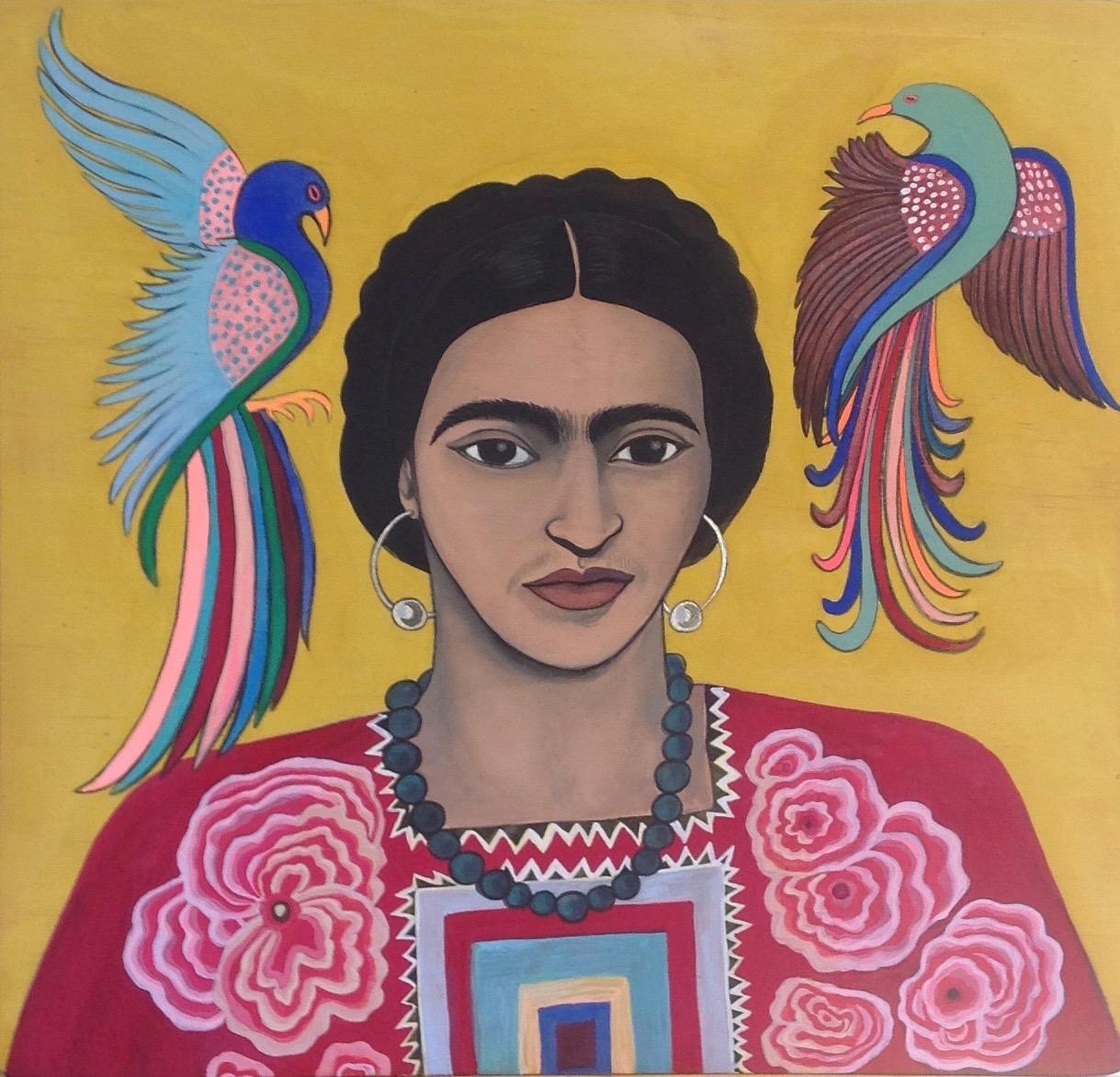 Frida Kahlo with birds, 2015