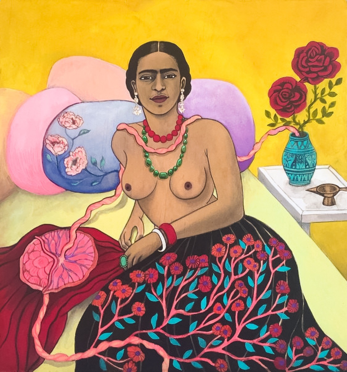 Frida Kahlo and tree of life, 2015
