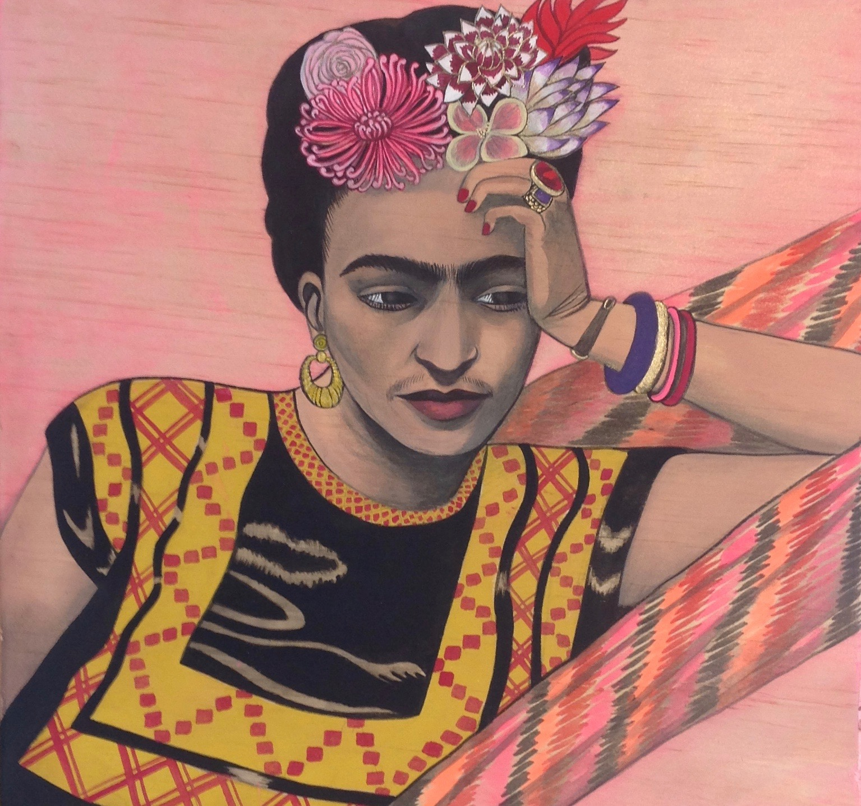 Frida Kahlo in hammock, 2015