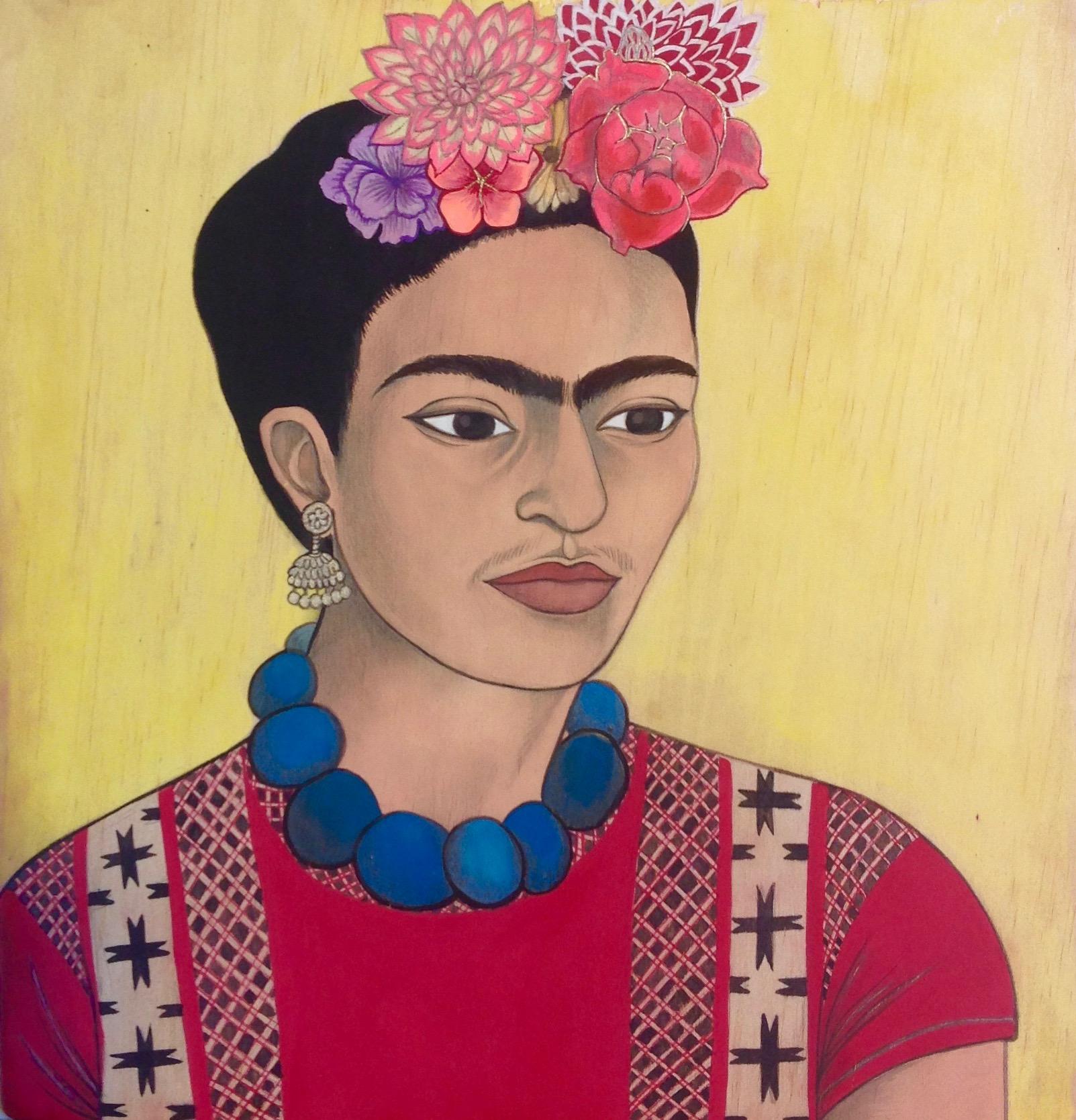 Frida Kahlo and blue necklace, 2015