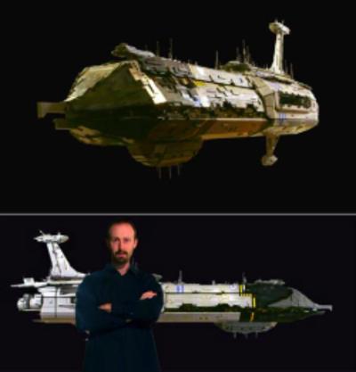A VERY large LEGO spaceship.   www.geekoogie.com