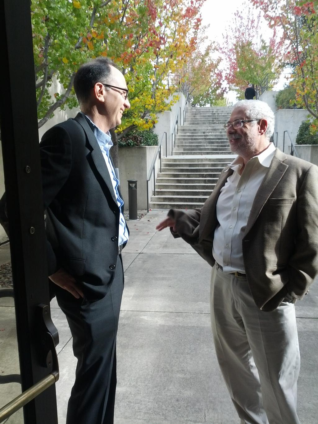 Wade chatting with serial-entrepreneur Steve Blank