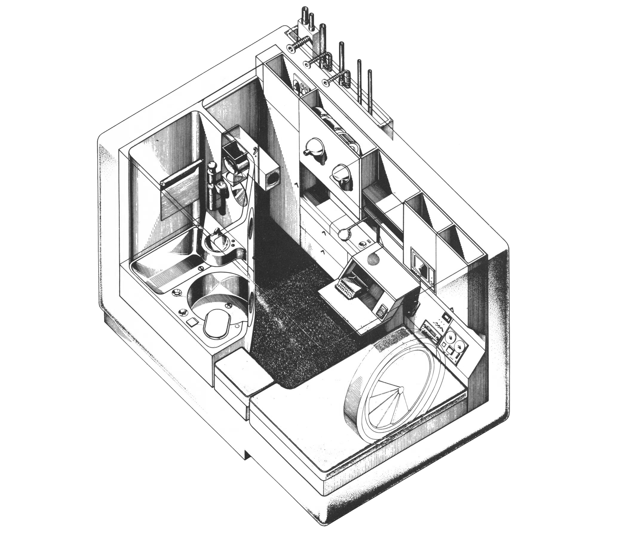 (  Kisho Kurokawa: From Metabolism and Symbiosis)  Nagakin Capsule Tower (1972)