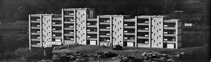 (Japan Architect   1956-57  , pg. 27, photos Y. Ishimoto )  Tonogaya Apartment House