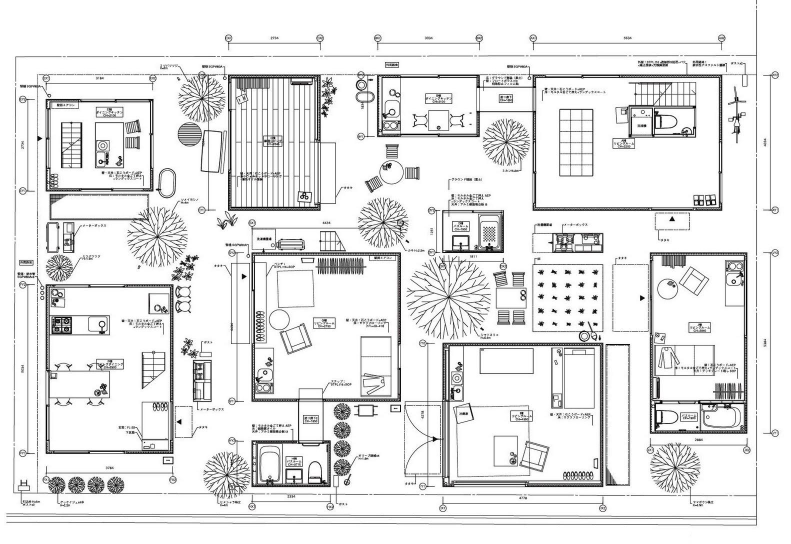 (openbuildings.com)  , SANAA,Moriyama House (2005) Plan