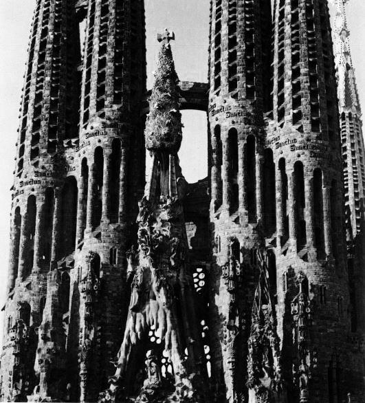 "Image: ""Rudness"" in the Sagrada Familia, Antoni Gaudi, New York, 1961"