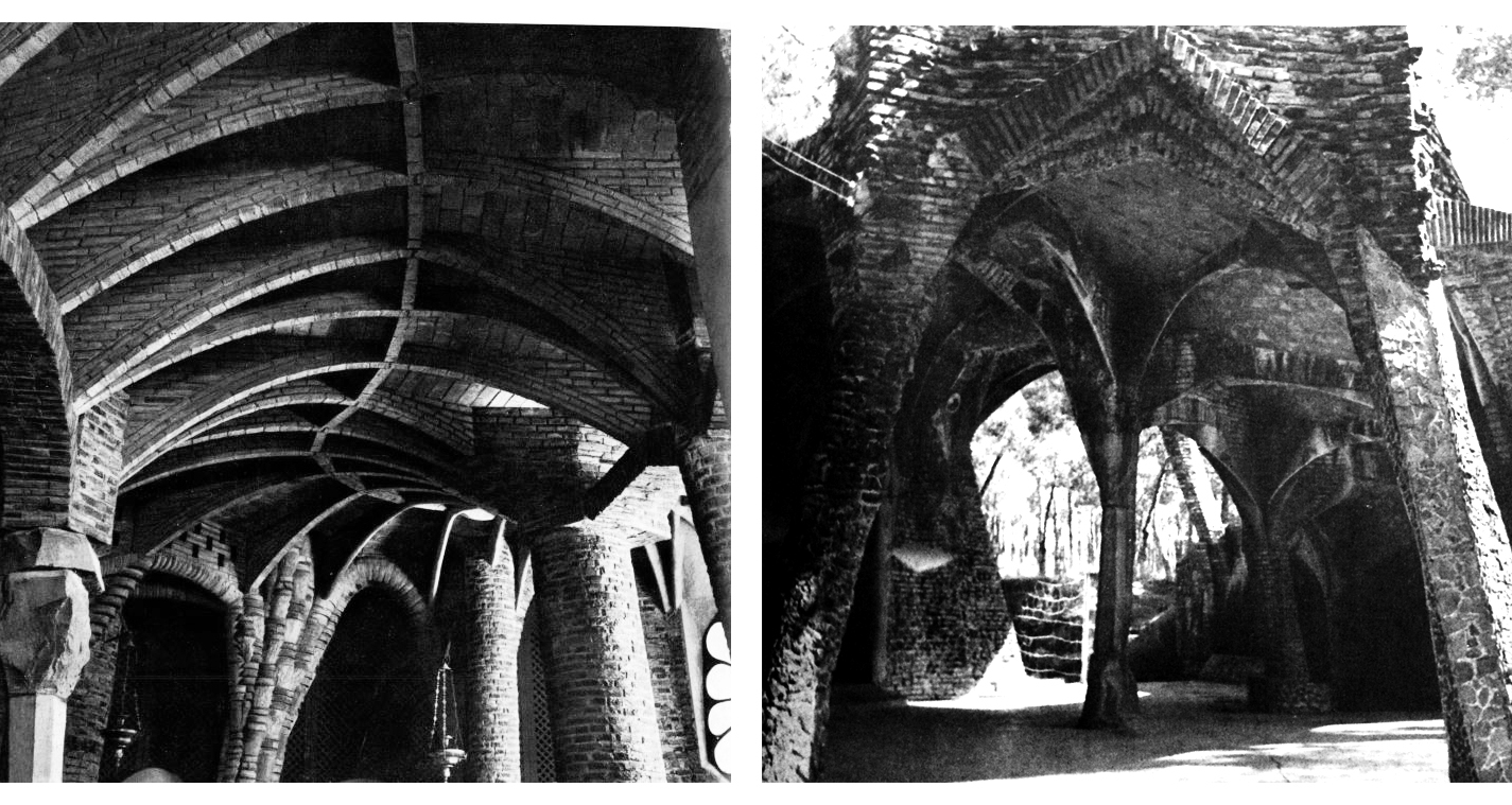 Image: Chapel Guell structure, Antoni Gaudi, New York, 1961
