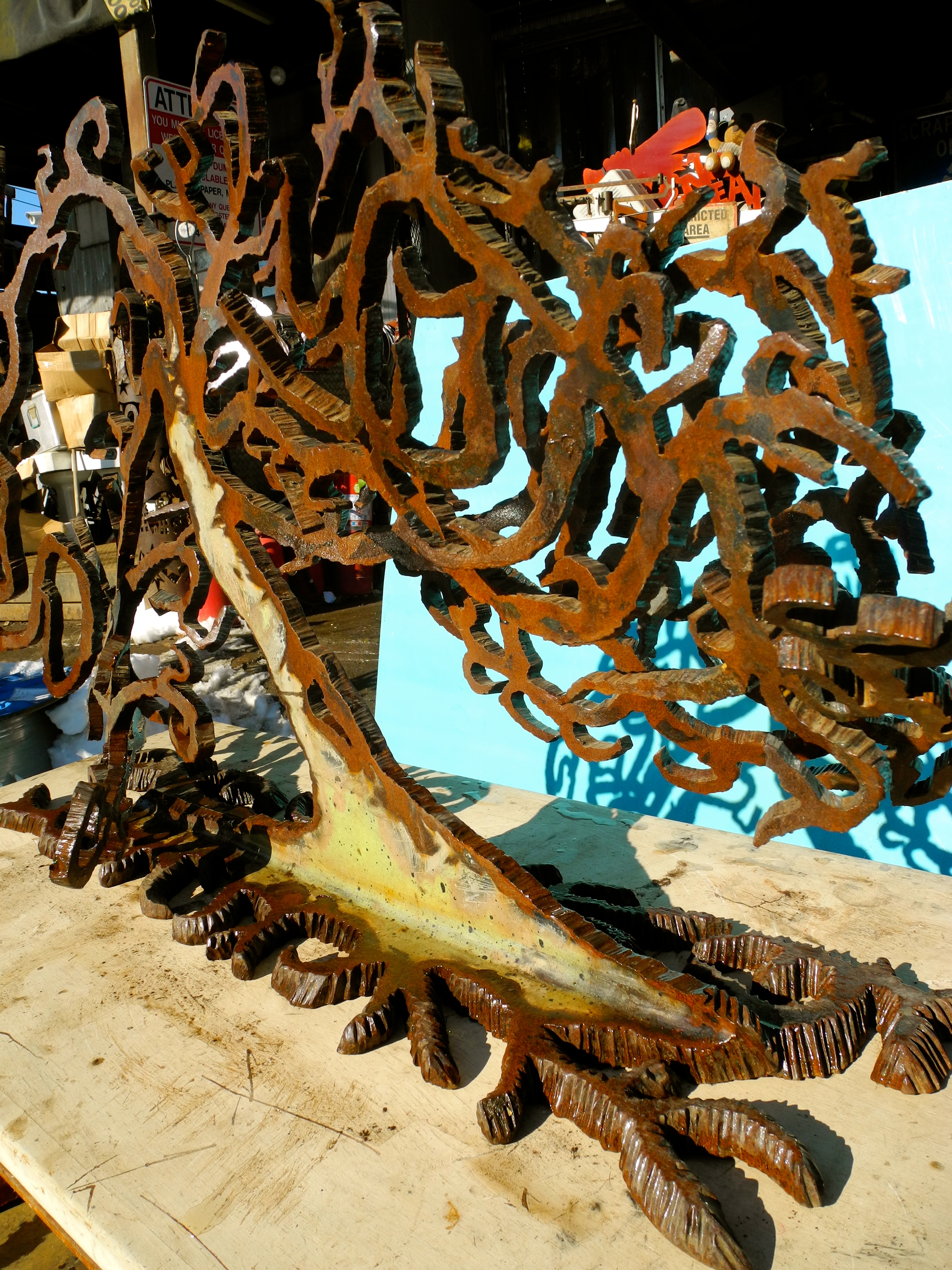 Salvaged Bridge Steel Tree Small by Richard Benash.jpg